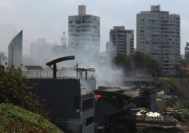 APEC zirvesinin yapılacağı otel yakınlarında yangın