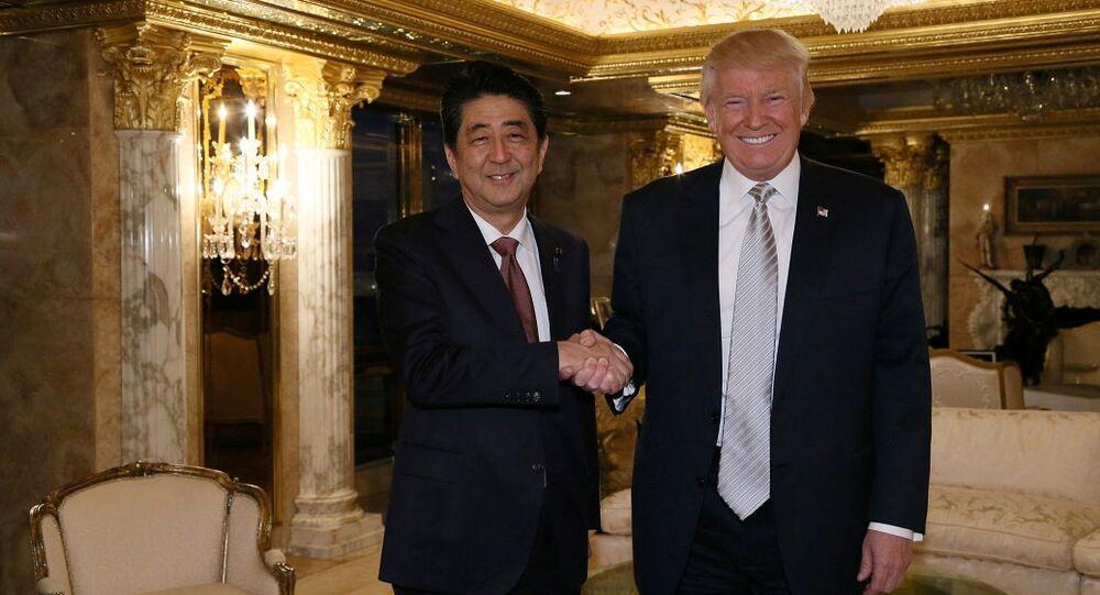 Şinzo Abe Donald Trump ile görüşen ilk yabancı lider oldu