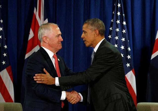 ABD Başkanı Obama - Avustralya Başbakanı Turnbull
