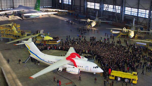Ukrayna'nın devlet uçak üreticisi Antonov şirketine ait An-148 uçak - Sputnik Türkiye
