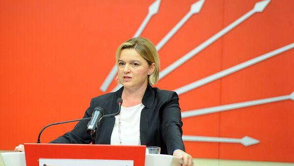 CHP Genel Başkan Yardımcısı Selin Sayek Böke, parti genel merkezinde düzenlediği basın toplantısında, Türkiye ekonomisinde son dönemde yaşanan gelişmeleri değerlendirdi. - Sputnik Türkiye