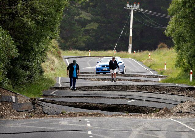 Yeni Zelanda'da deprem (Arşiv)