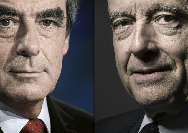Fransa'da Cumhuriyetçilerin Cumhurbaşkanı adayları François Fillon ve Alain Juppe