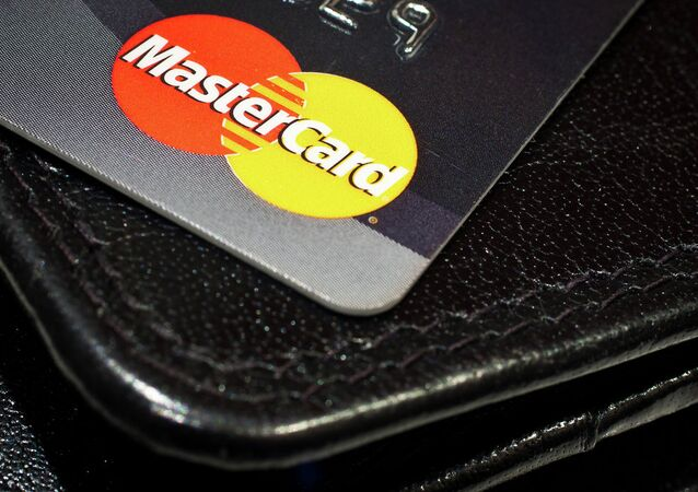 Mastercard credit card and a wallet