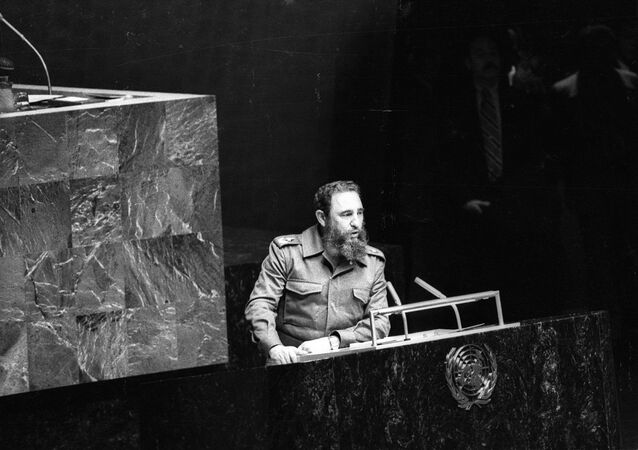 Fidel Castro, 1979'da Birleşmiş Milletler'e hitap ederken