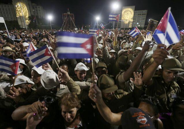 Küba / Devrim Meydanı / Fidel Castro cenaze