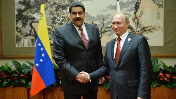 Venezülla Devlet Başkanı Nicolas Maduro- Rusya Devlet Başkanı Vladimir Putin - Sputnik Türkiye
