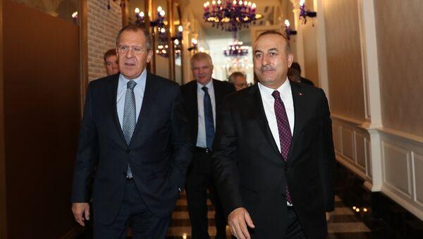 Mevlüt Çavuşoğlu - Sergey Lavrov - Sputnik Türkiye