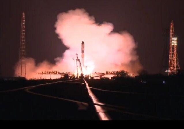 Progress MS-04 kargo kapsülünün fırlatılış anı