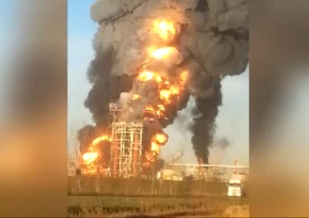 İtalya'daki petrol rafinerisinde yangın