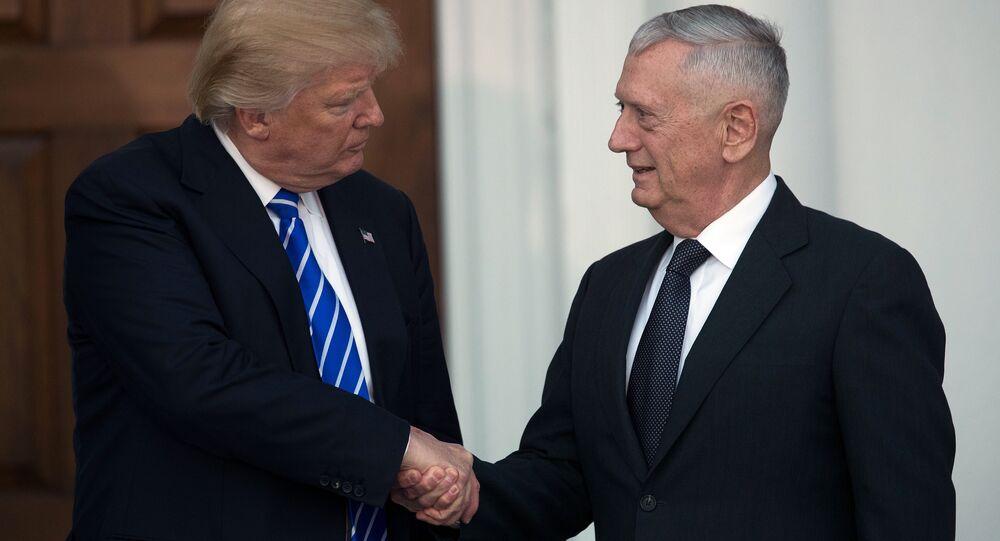 ABD Başkanı Donald Trump ile Savunma Bakanı James Mattis