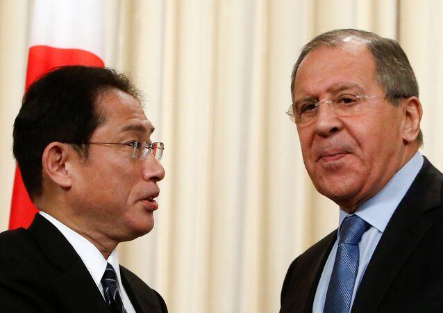 Sergey Lavrov - Fumio Kişida