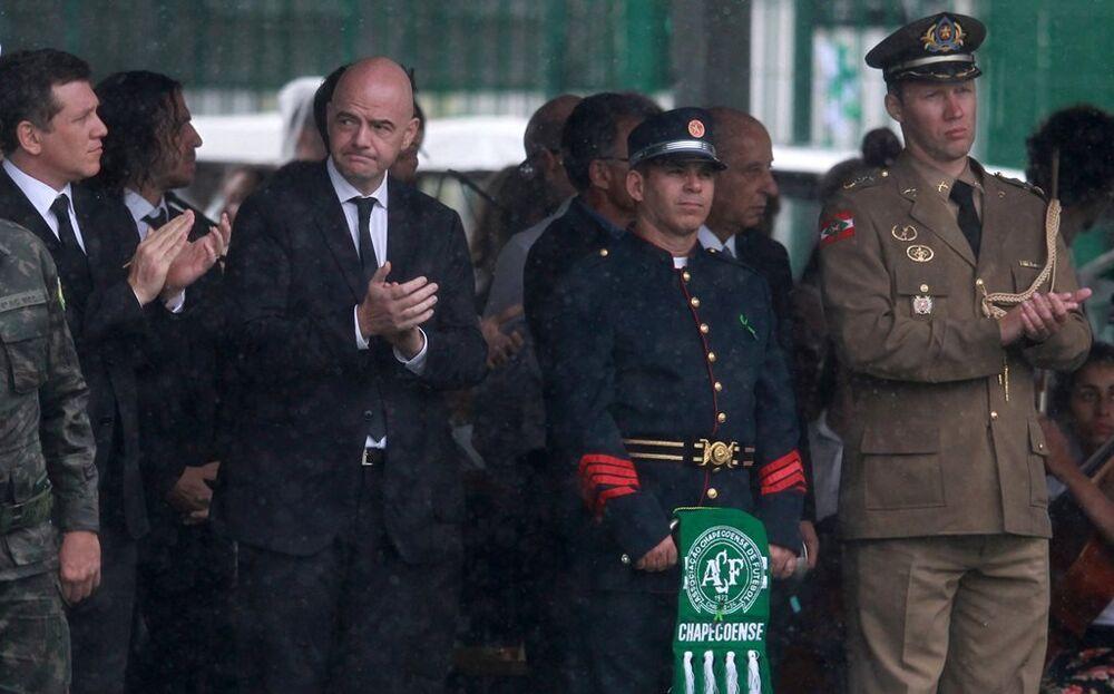 Törene, Brezilya Devlet Başkanı Michel Temer ile FIFA Başkanı Gianni Infantino da katıldı.