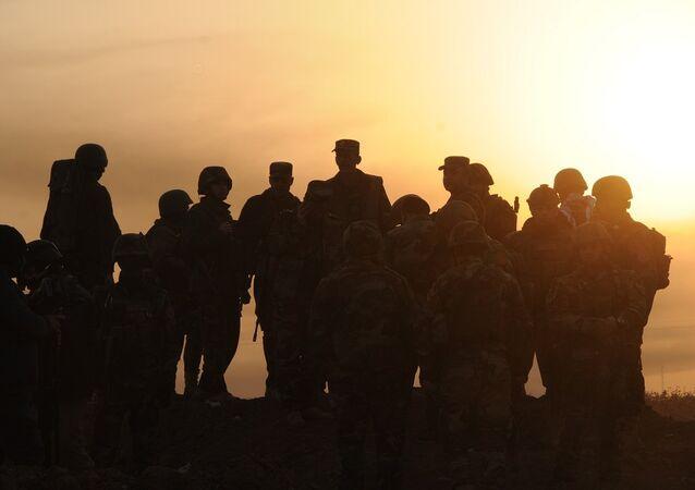 Musul'da cephedeki Peşmerge güçleri