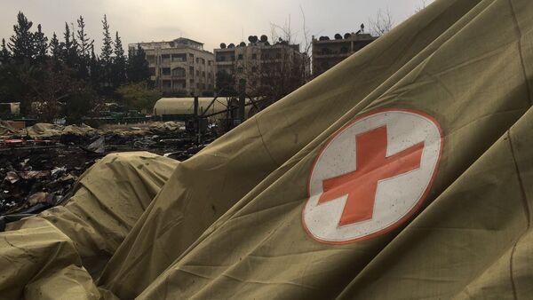 Suriye'nin Halep kentinde yer alan Rusya'ya ait askeri hastane - Sputnik Türkiye
