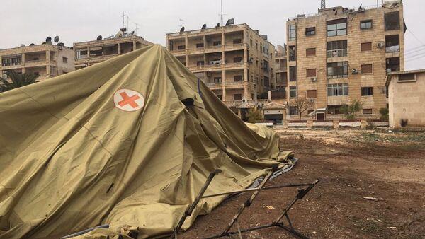 Rusya'nın Halep'teki seyyar hastanesi saldırıya uğradı - Sputnik Türkiye
