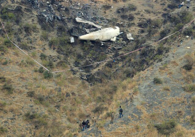Pakistan Uluslararası Havayolları'na ait bir uçak Abbottabat kenti yakınlarında düştü