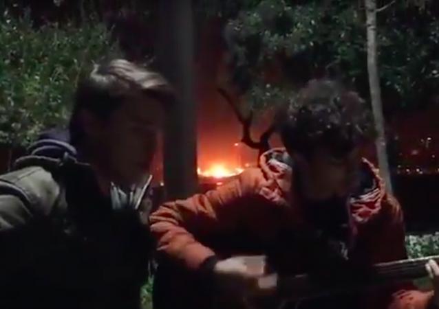 İstanbul'daki patlama anı amatör kamerada