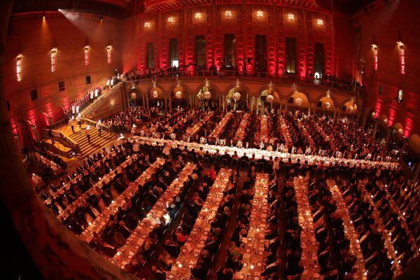 Stockholm'deki tören için verilen ziyafet - Sputnik Türkiye
