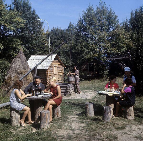 Soçi'deki Zelyonıy Popugay (Yeşil Papağan) isimli restoran (1970) - Sputnik Türkiye