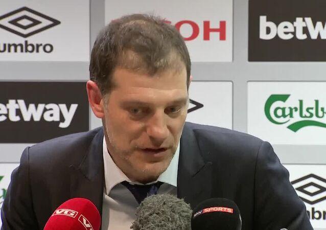 İngiltere Premier Lig ekiplerinden West Ham'ı çalıştıran Beşiktaş'ın eski hocası Slaven Bilic