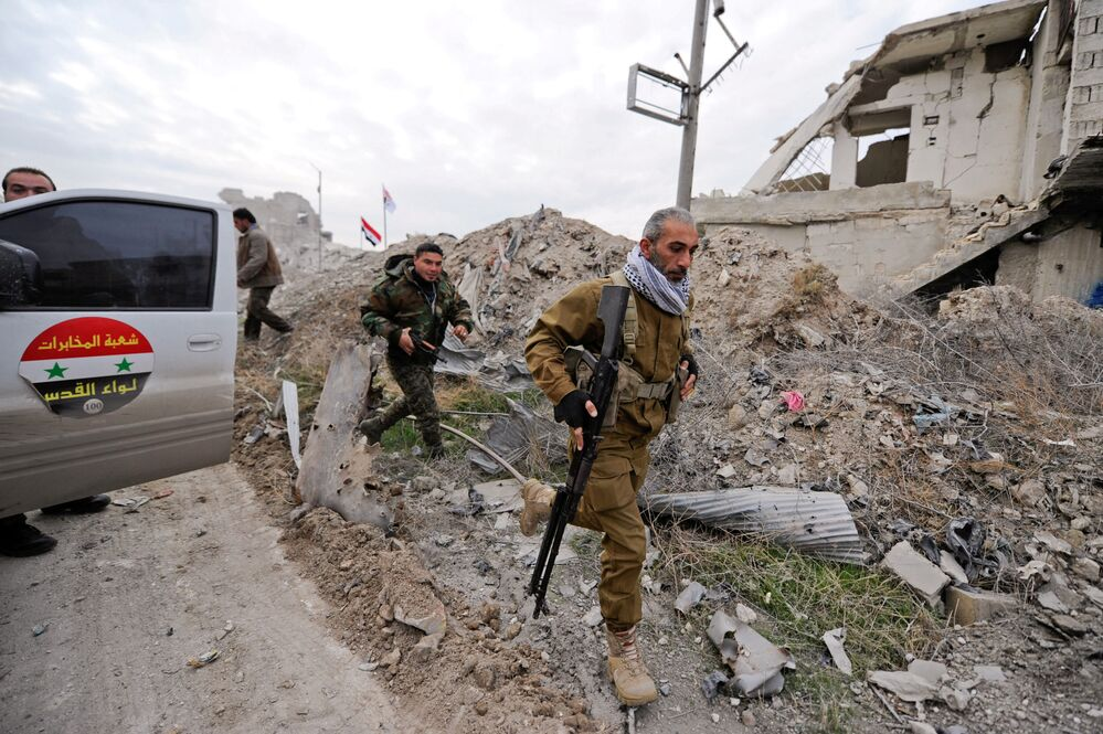 Cihatçılardan temizlenen Halep'ten ilk kareler