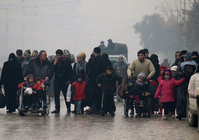 Halep'ten çıkarılan siviller
