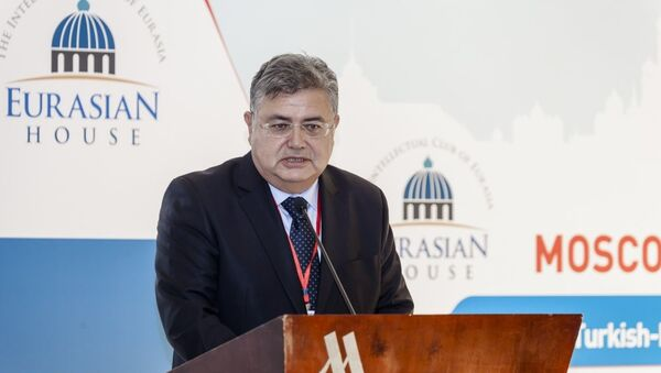 Rusya'nın başkenti Moskova'da 'Türk-Rus İlişkilerine Ekonomik Bakış' başlıklı bir panel yapıldı. - Sputnik Türkiye