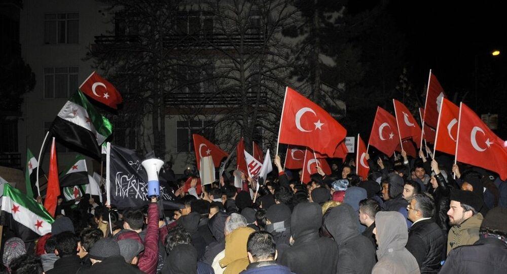 İran'ın Ankara Büyükelçiliği Halep protestosu