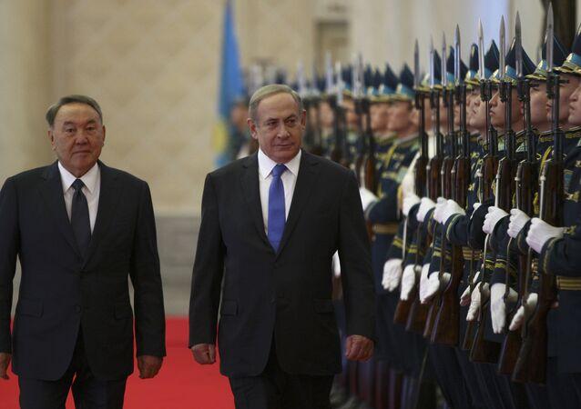 İsrail Başbakanı Benyamin Netanyahu ve Kazakistan Devlet Başkanı Nursultan Nazarbayev