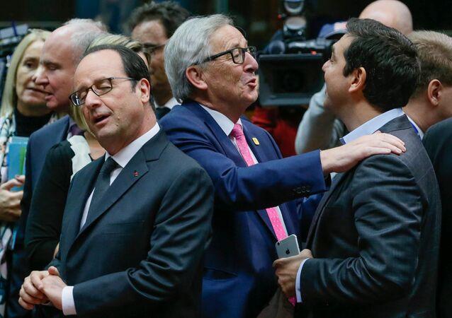 Jean Cluade Juncker - Aleksis Çipar - François Hollande