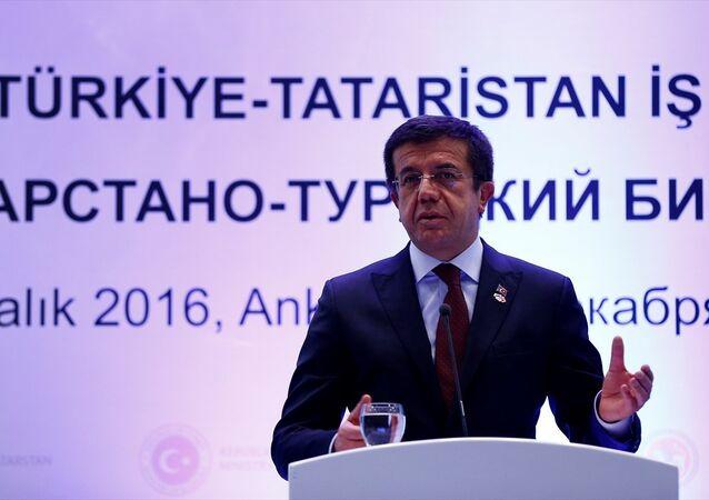 Türkiye-Tataristan İş Forumu, Sheraton Otel'de, Tataristan Cumhurbaşkanı Rustam Minni̇hanov ve Ekonomi Bakanı Nihat Zeybekci'nin katılımıyla gerçekleştirildi.