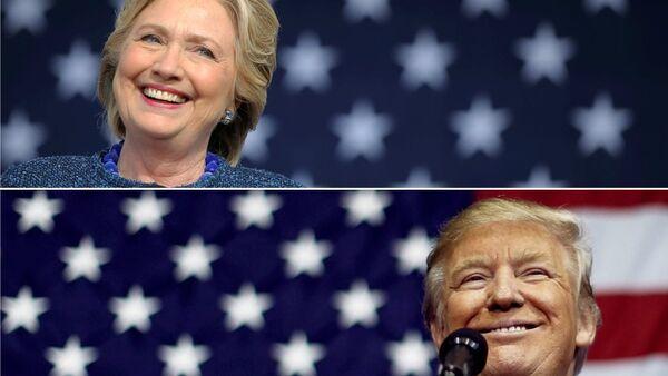 Hillary Clinton - Donald Trump - Sputnik Türkiye