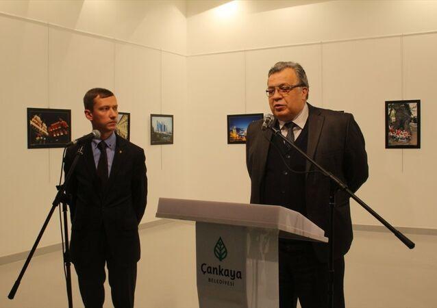 Ankara'daki Çağdaş Sanatlar Merkezi'nde katıldığı bir sergide uğradığı silahlı saldırı sonucu hayatını kaybeden Rusya'nın Ankara Büyükelçisi Andrey Karlov, 2013 yılından bu yana Ankara'da görev yapıyordu.