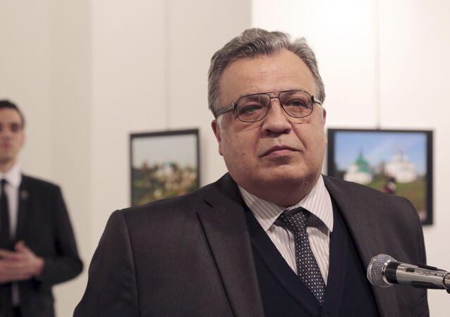 Rusya'nın Ankara Büyükelçisi Andrey Karlov, 19 Aralık 2016'ta Ankara'da uğradığı suikast sonucu hayatını kaybetti.
