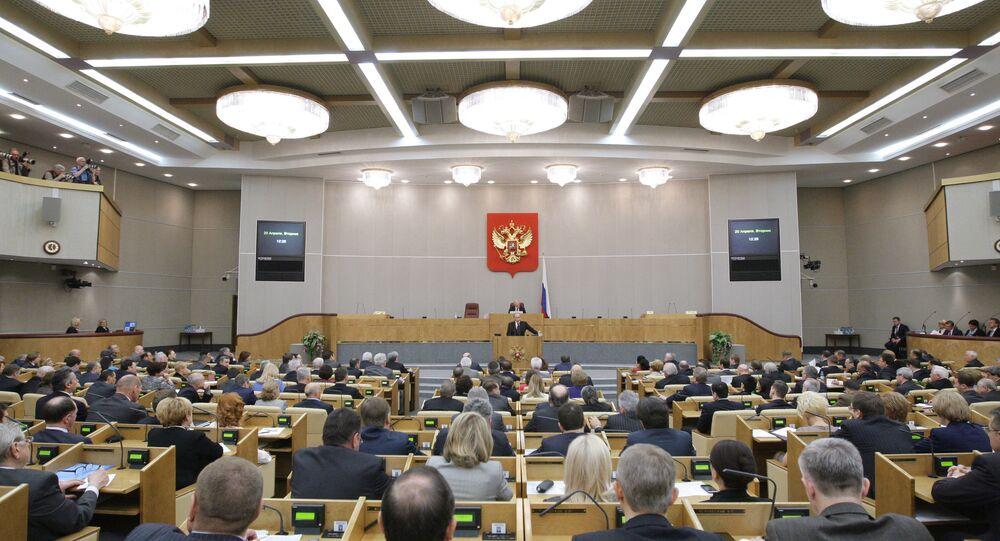 Vladimir Putin, Duma'ya hitap etti.