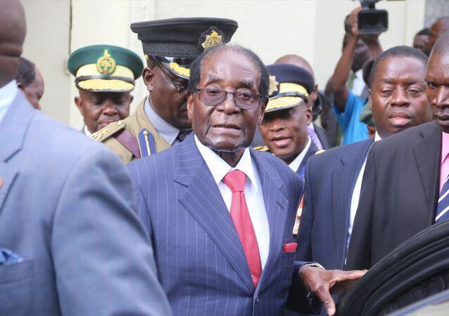 Zimbabve Devlet Başkanı Robert Mugabe