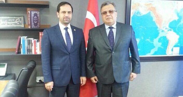 Türk-Rus Toplumsal Forumu Eş Başkanı Berat Çonkar ve Rusya'nın Ankara Büyükelçisi Andrey Karlov