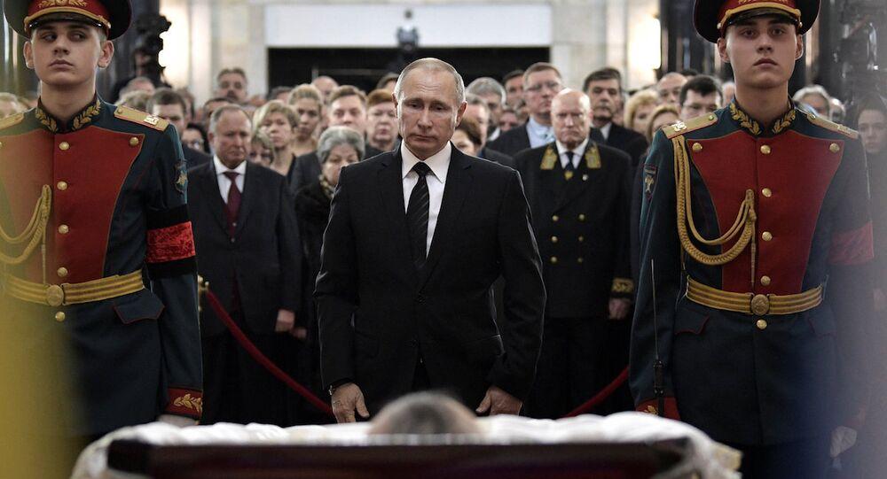 Rusya Devlet Başkanı Vladimir Putin, Ankara'da öldürülen Rus Büyükelçi Andrey Karlov'un cenaze töreninde