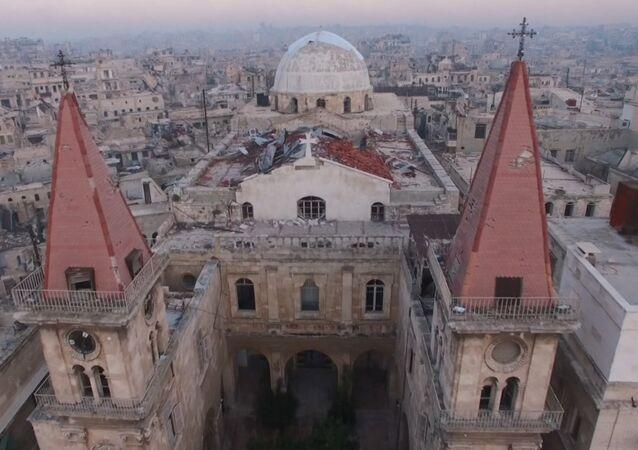 Militanlardan arındırılan Halep'e kuş bakışı