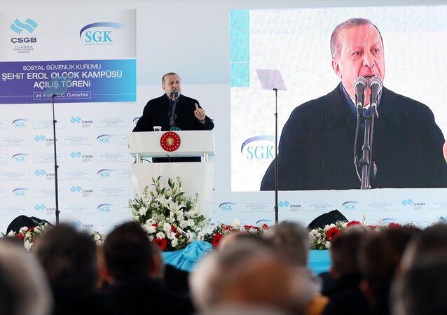 Cumhurbaşkanı Recep Tayyip Erdoğan, Maltepe'de düzenlenen SGK Maltepe Şehit Erol Olçok Kampüsü'nün açılış törenine katıldı