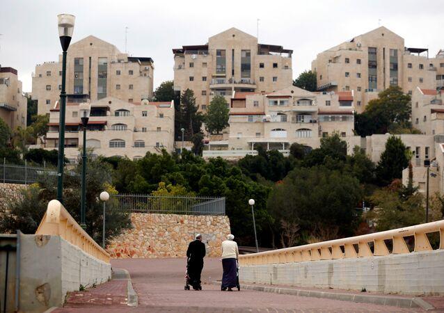 Batı Şeria'daki İsrail yerleşimlerinden biri
