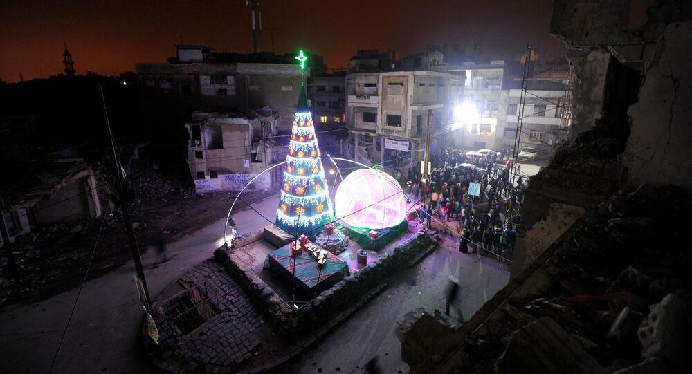 Suriye'de Noel kutlamaları