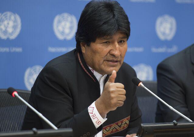 Bolivya Devlet Başkanı Evo Morales, BM'de konuşma yaparken
