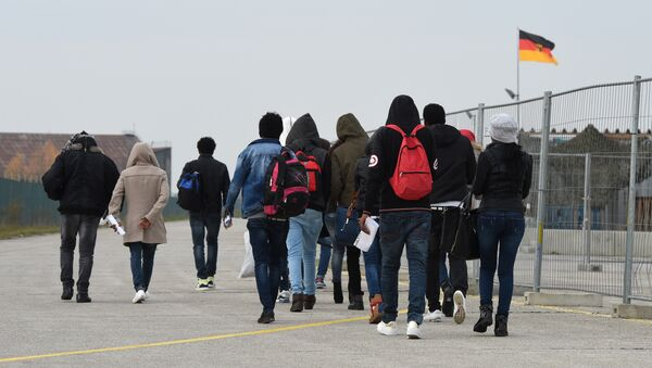 Almanya'daki sığınmacılar - Sputnik Türkiye