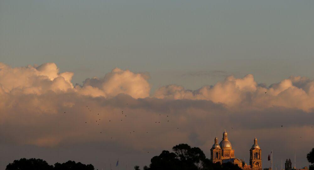 Malta'nın başkenti Valletta'daki Mesih Kral Kilisesi