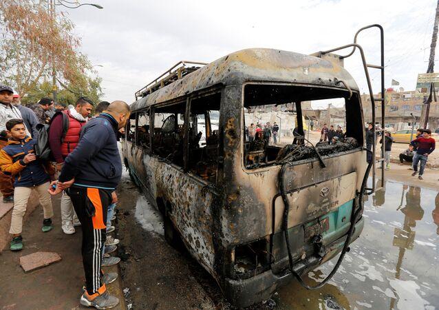 Bağdat'ın Sadr bölgesindeki intihar saldırında en az 32 kişi öldü