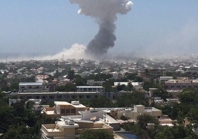 Mogadişu Uluslararası Havaalanı yakınındaki patlama