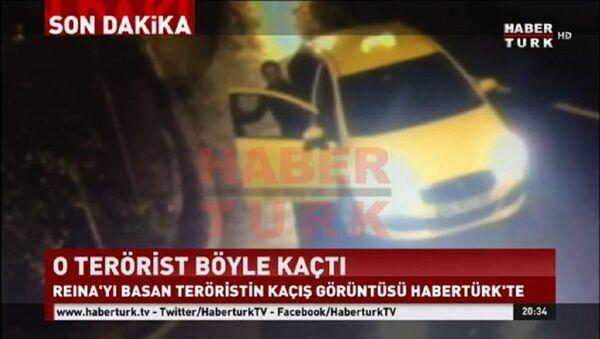 Reina saldırganının taksiyle kaçma görüntüsü - Sputnik Türkiye