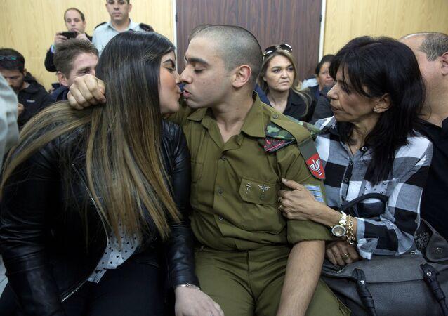 El Halil'de yaralı haldeki Filistinliyi vurarak öldüren Elor Azaria isimli İsrail askeri